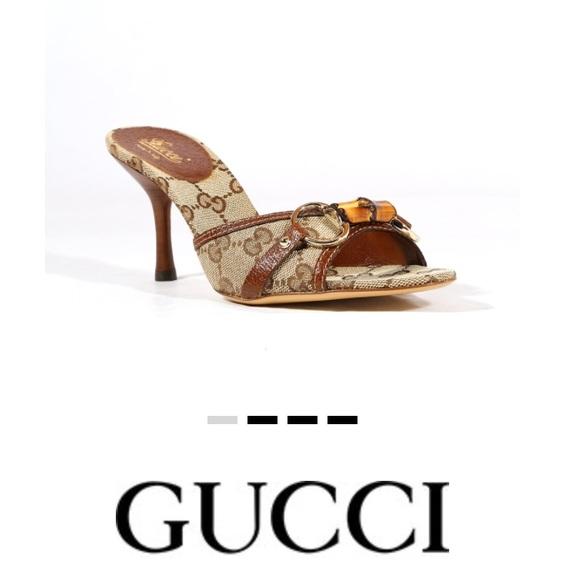 2f7e3ef54 Gucci Shoes | 7 12b Gg Logo Beige Brown Sandals | Poshmark